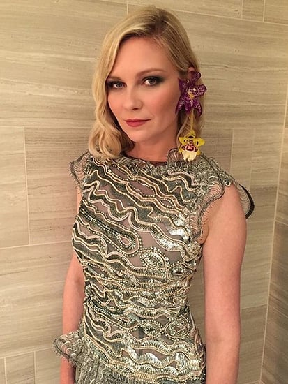 So Fresh! Kirsten Dunst Wears Real Orchids as Earrings (Flown in From L.A. That Day!) to the CFDA Awards