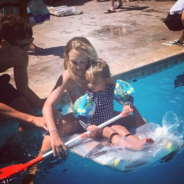 Arabella Rose Kushner didn't win her raft race, but she had fun trying according to her mom, Ivanka Trump. Source: Instagram user ivankatrump