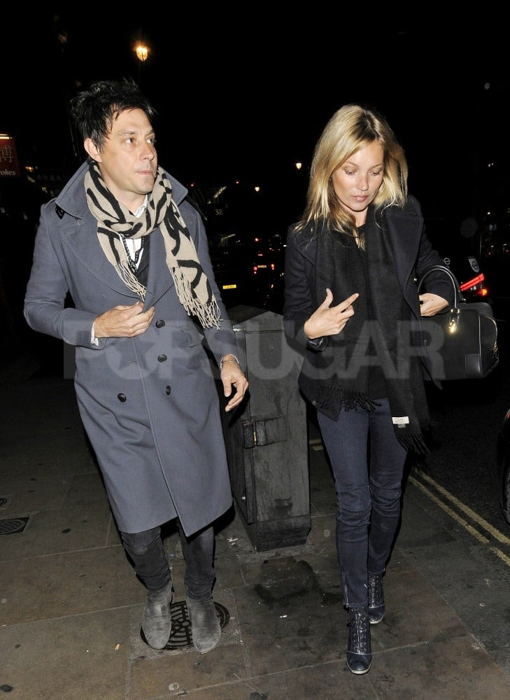 Jamie Hince and Kate Moss went home after the movies.