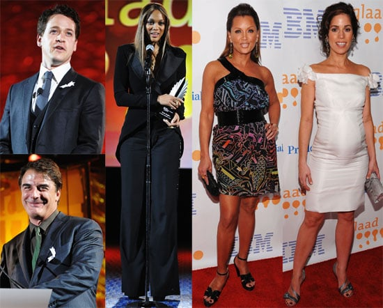 Photos of Tyra Banks, Vanessa Williams, Pregnant Ana Ortiz, Chris Noth, T.R. Knight at GLAAD Media Awards in NYC