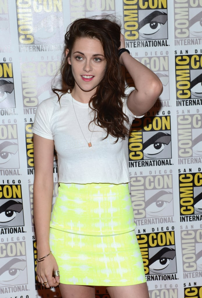 How sweet is Kristen's delicate gold pendant necklace?