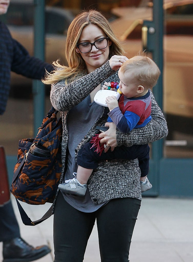 Hilary Duff and Luca had a fun day in Beverly Hills.