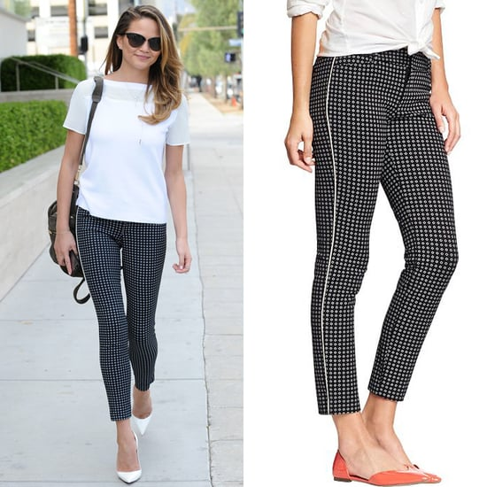 Chrissy Teigen in Black and White Old Navy Pants