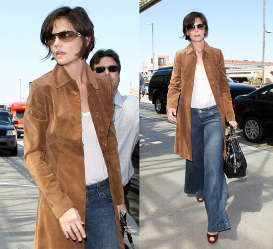 Katie Back At LAX, On Her Way To Sweet Suri?