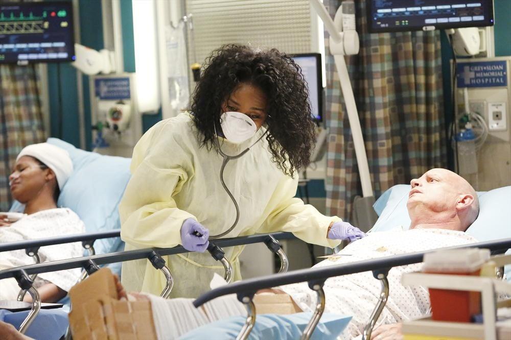 Dr. Stephanie Edwards (Jerrika Hinton) on Grey's Anatomy.