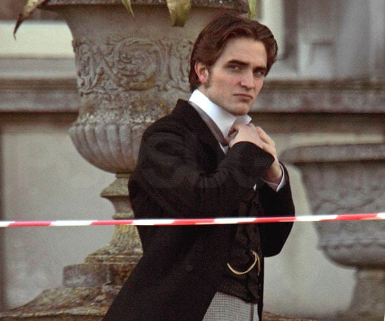 Slide Photo of Robert Pattinson on Set