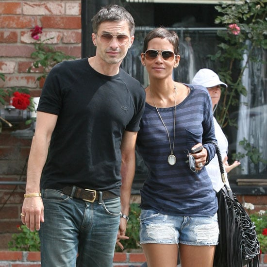 Pictures of Halle Berry and Olivier Martinez Leaving Lunch in LA