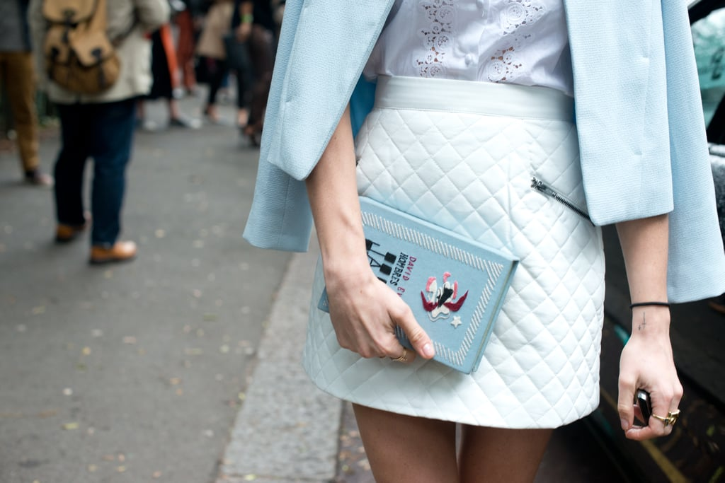 Her literary clutch is totally genius.