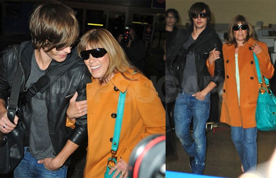 Photos of Zac Efron at the Airport With His Mom