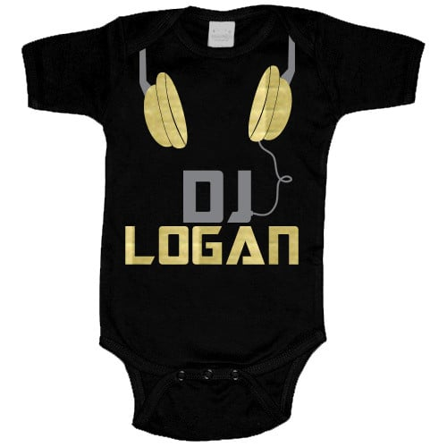 Psycho Baby's Tiny Tunes DJ One-Piece ($26-28) can be personalized with your favorite little DJ's name.