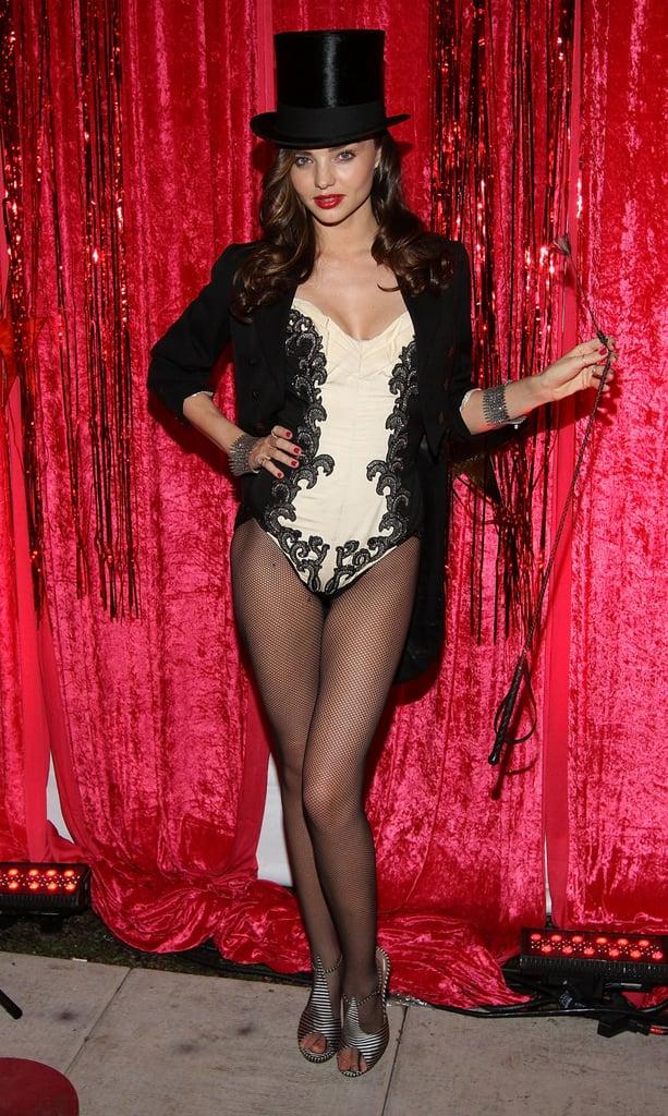 Miranda Kerr got sexy in a lingerie-inspired circus costume in 2011.