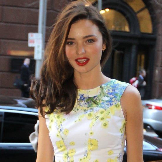 Miranda Kerr in Floral Dress in Sydney Pictures