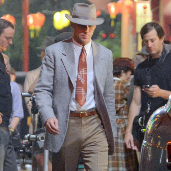 Ryan Gosling on Set For Gangster Squad Reshoots   Pictures