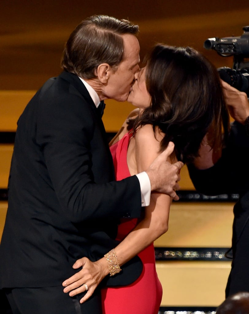 Bryan Cranston and Julia Louis-Dreyfus's makeout session couldn't be missed.