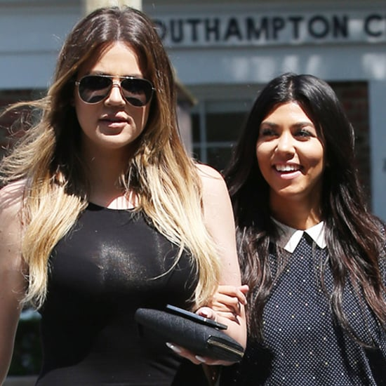 Kourtney and Khloe Kardashian Filming in the Hamptons