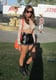 This Coachella attendee channeled her inner '90s badness in leather shorts, a lace crop top, and tough boots. Source: Chi Diem Chau