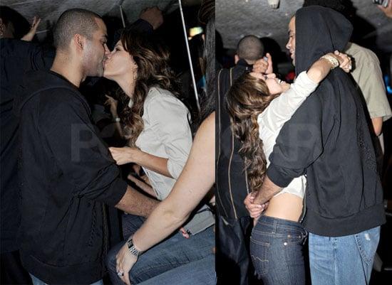 Photos of Eva Longoria and Tony Parker Drunk, Kissing At Club In Paris
