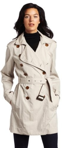 French Connection Women's Franco Twill Long-Sleeve Classic Trenchcoat