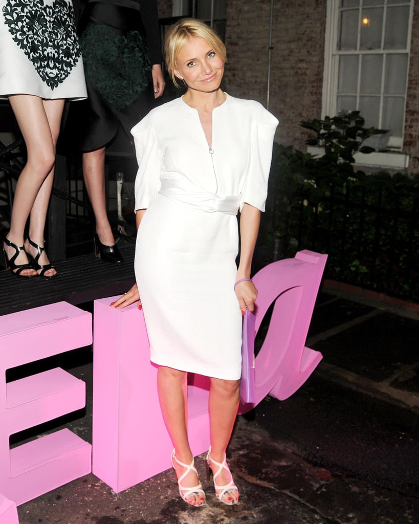 Cameron Diaz at Stella McCartney's Resort 2014 presentation. Source: Billy Farrell/BFAnyc.com