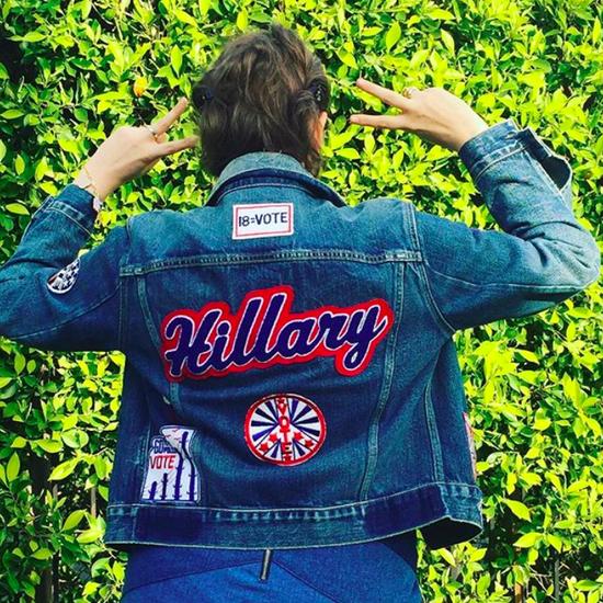 Lena Dunham's Hillary Clinton Cheerleader Outfit