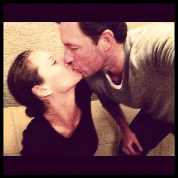 Christy Turlington and Ed Burns shared a sweet smooch while vacationing in Spain. Source: Instagram user cturlington