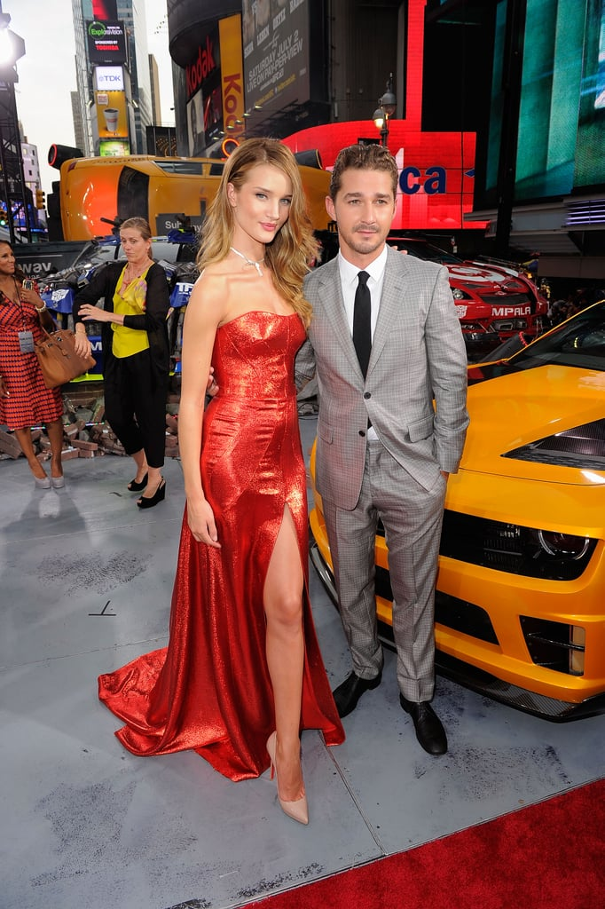 """""""Thrilled"""" Shia Debuts Transformers With Patrick, Josh, Tyrese, and Running-in-Heels Expert Rosie"""