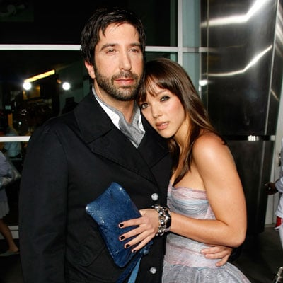 David Schwimmer and Zoe Buckman at the Run, Fatboy, Run Premiere