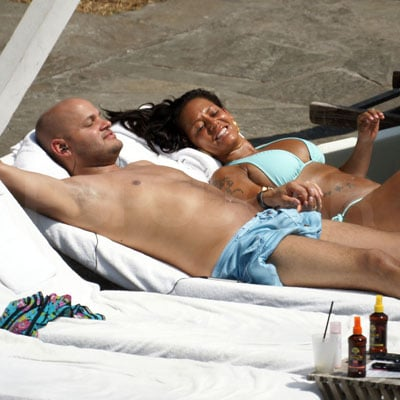 Melanie Brown and Stephen Belafonte on Vacation in Miami