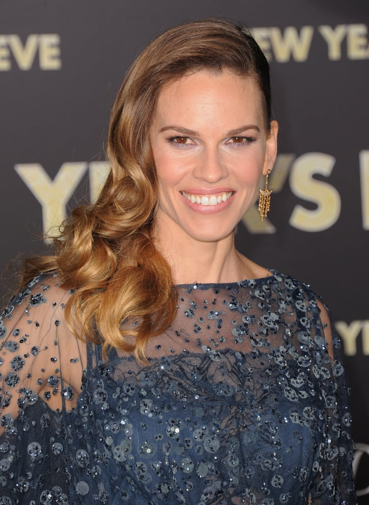 Hilary Swank glammed it up at the New Year's Eve premiere.