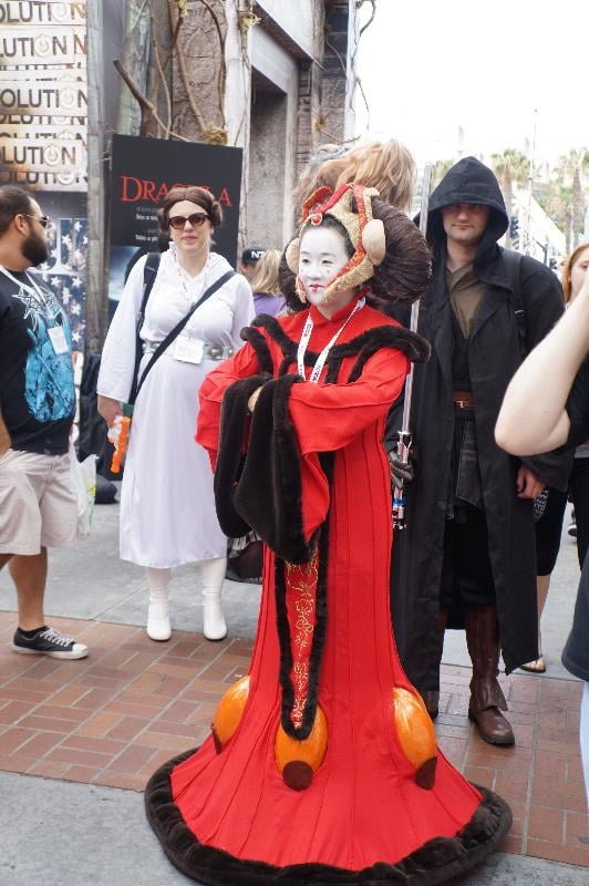 The hair and makeup of this Queen Amidala cosplayer is stunning!