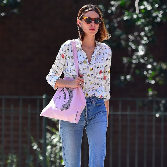 Alexa Chung in Espadrilles in July 2016