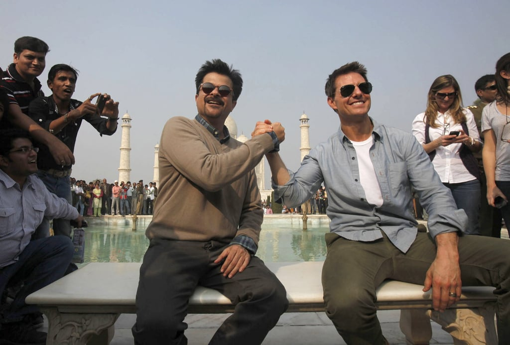 Tom Cruise and Anil Kapoor posed at the Taj Mahal.