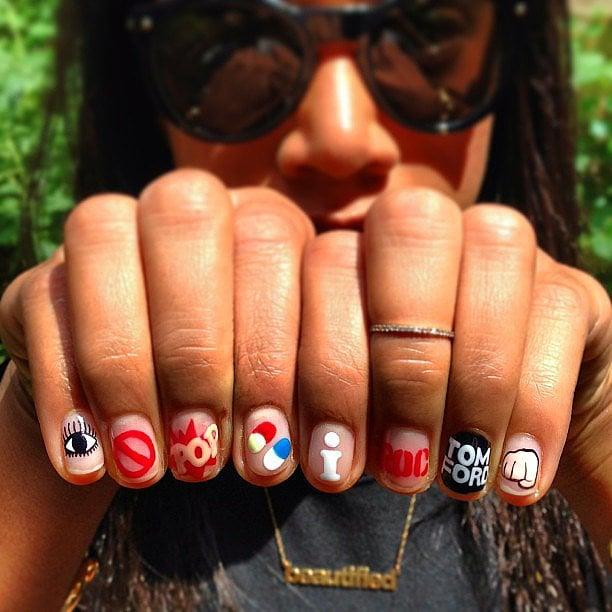 Jay Z Lyrics Nail Art