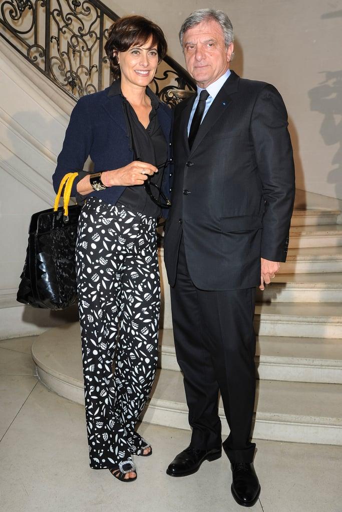 Inès de la Fressange and Sidney Toledano