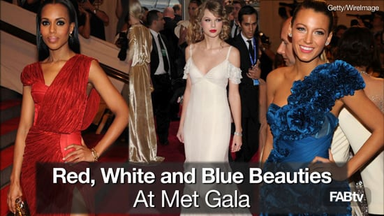 Met Gala Moments: Red, White and Blue Beauties Arrive in Style