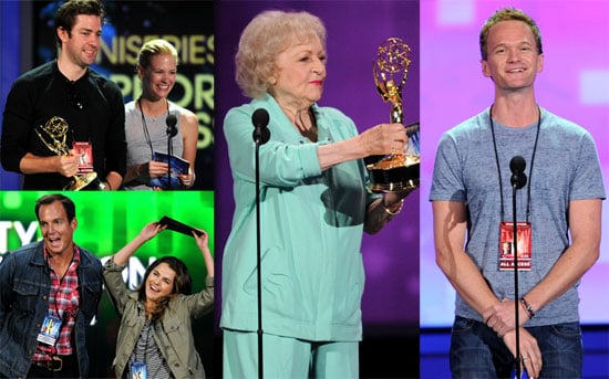 Pictures of Betty White, John Krasinski, and January Jones Rehearsing Prior to the Primetime Emmy Awards