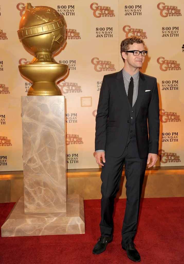 Justin was on his suit-and-tie (and glasses) game while announcing the Golden Globe nominations in 2009.