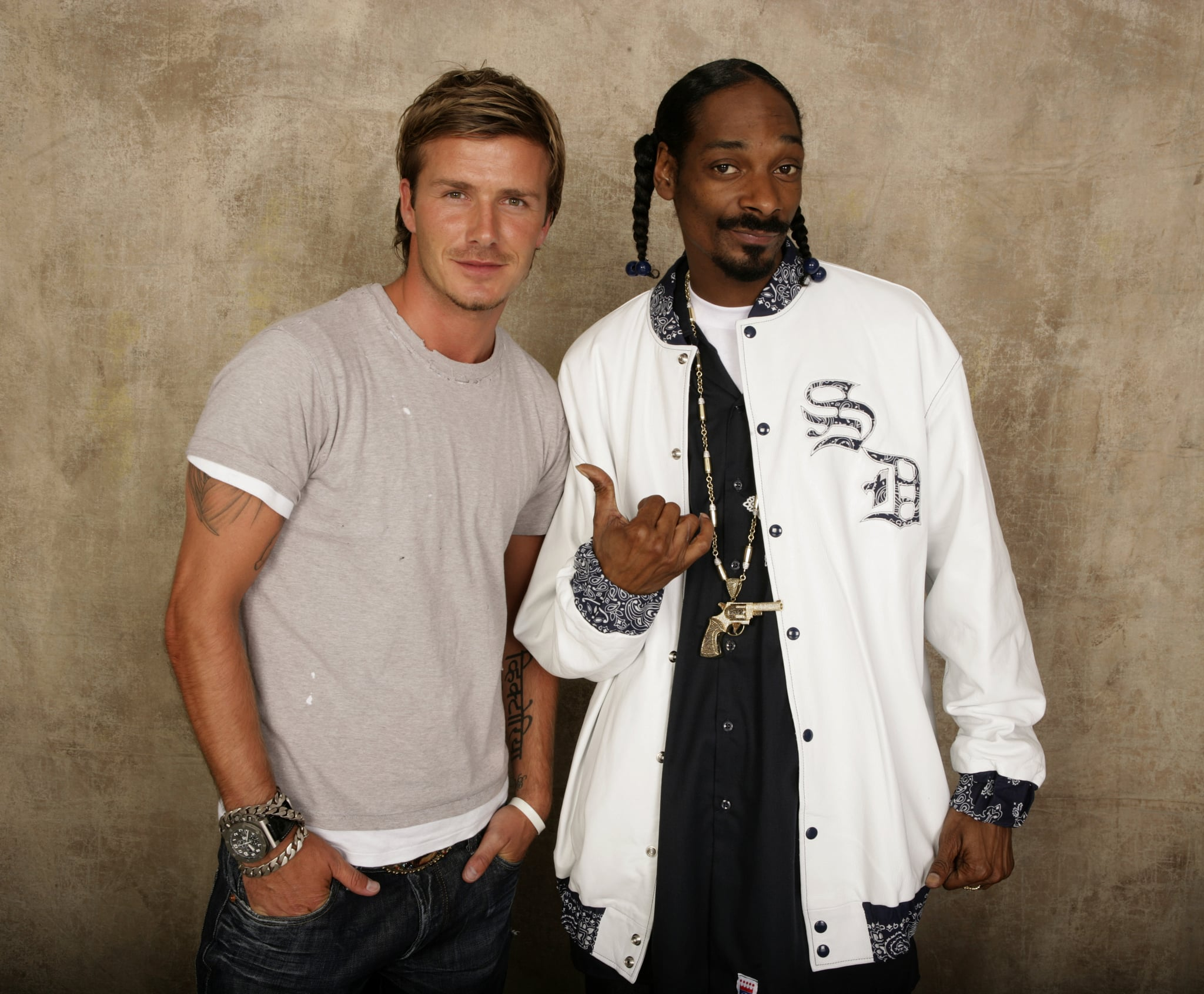 David Beckham and Snoop Dogg