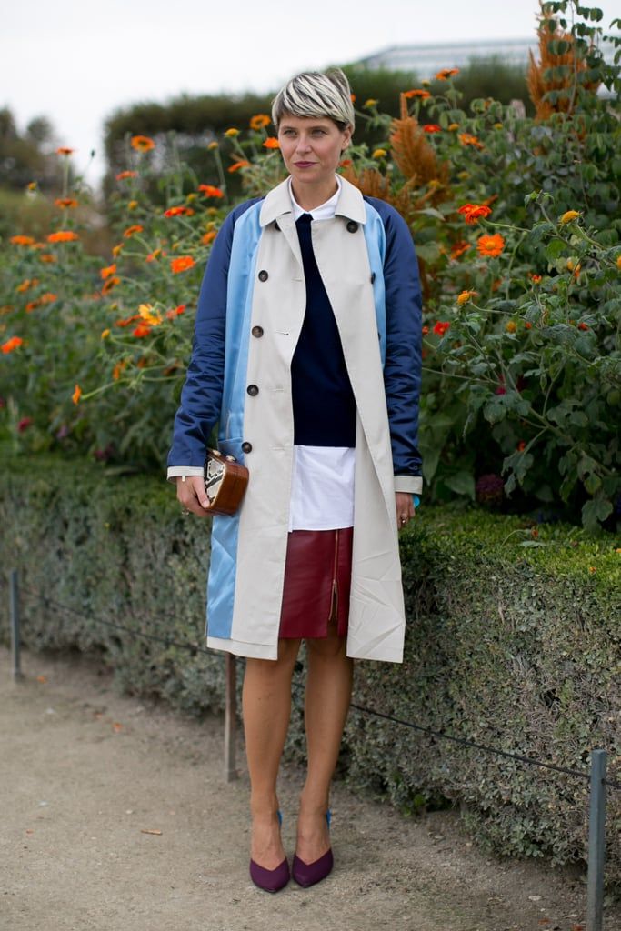 Colorblocking with restraint, Elisa Nalin showed us how it's done.