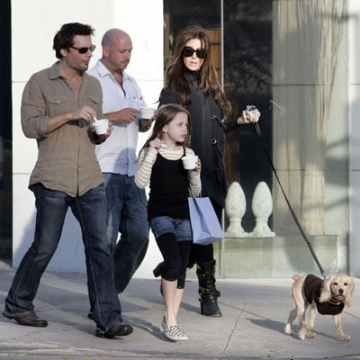 Kate Beckinsale Out With Family and Puppy