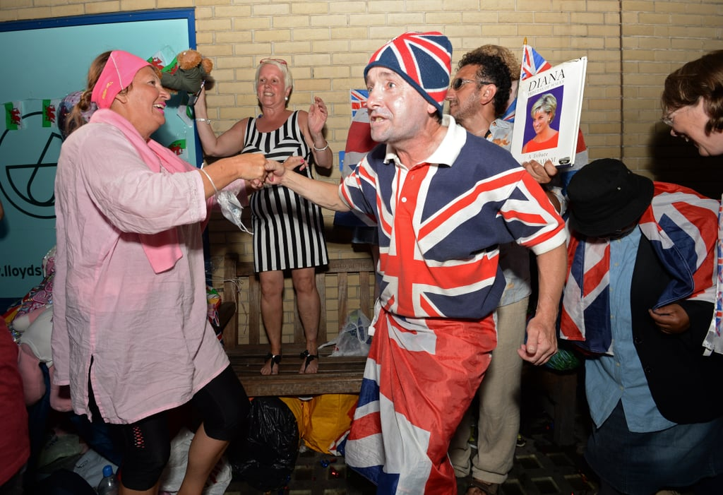 People in London celebrated the birth of the prince.