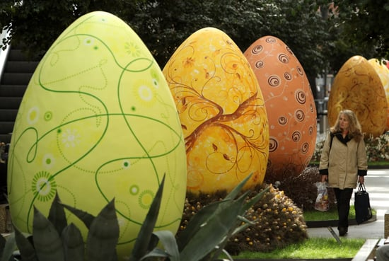 Giant Easter Eggs on Display in Berlin