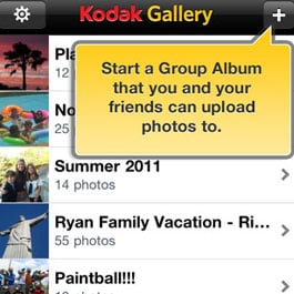 Group Photo Sharing With Kodak Gallery App
