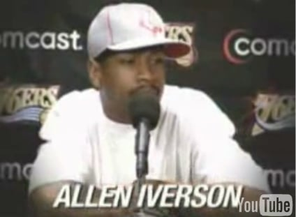 NBA Star Iverson Practices Public Speaking