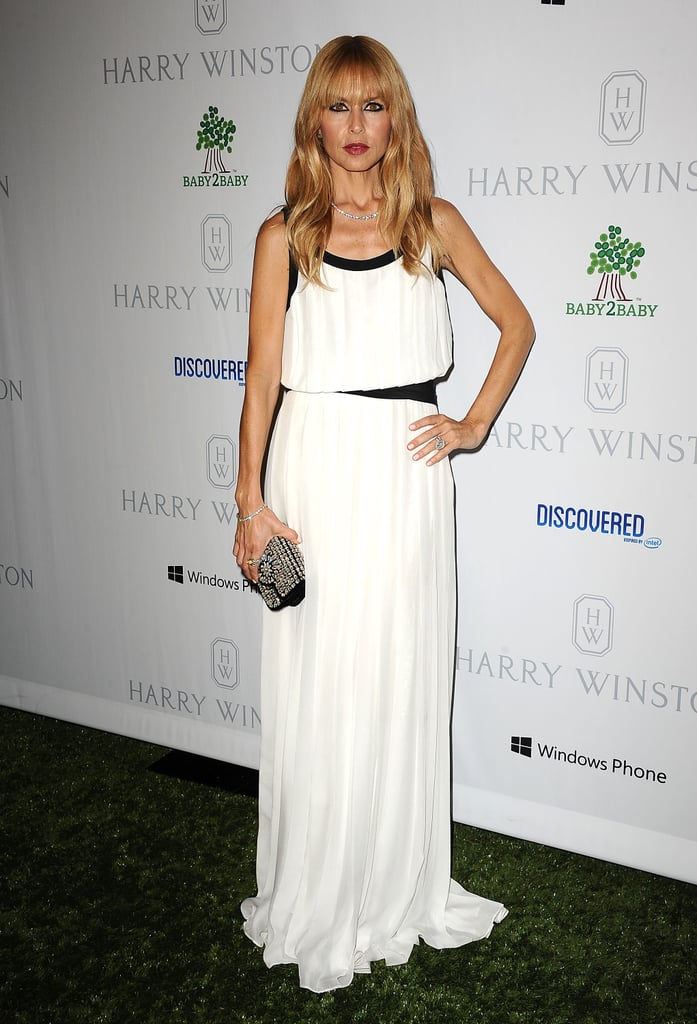 Rachel Zoe wore a black and white gown for the Baby2Baby Gala.