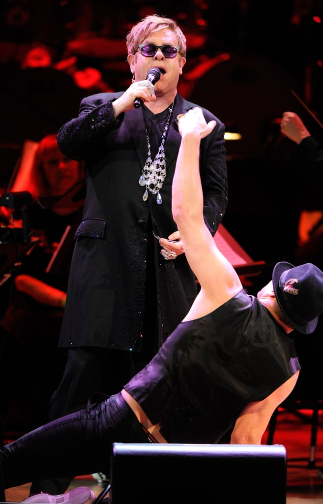 Channing Tatum shared the stage with Elton John at the Revlon Concert for the Rainforest Fund at Carnegie Hall in NYC.