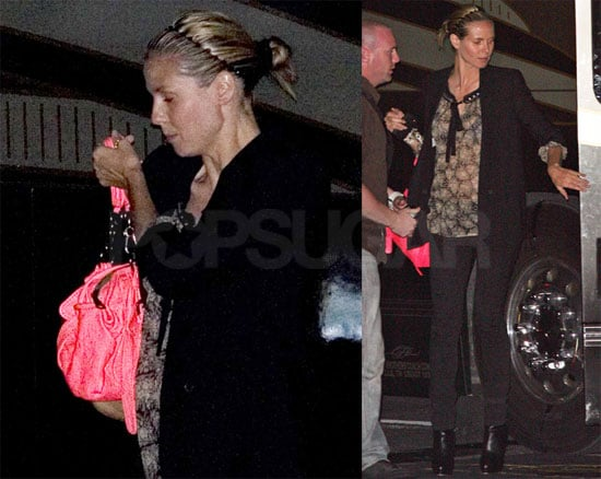 Photos of Pregnant Heidi Klum Attending Her Husband Seal's Concert in Miami