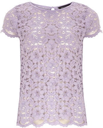 Dorothy Perkins Scallop Lace Tee