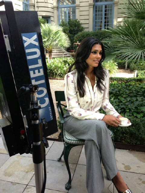 Designer Rachel Roy filmed promotional commercials for her line. Source: Twitter user Rachel_Roy