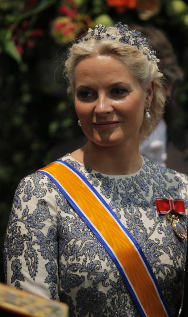 Crown Princess Mette-Marit of Norway was looking regal.